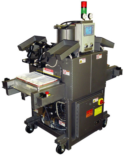 Medical tray sealer for thermform packaging of medical devices